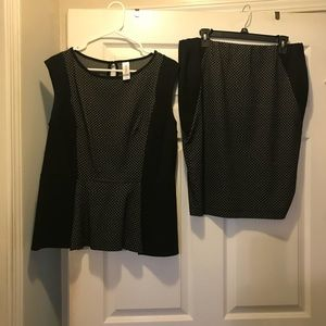 Pure Energy 2-piece skirt and top. XL GUC.